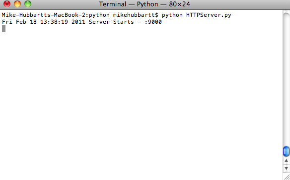 Getting Started with Python on Mac OSX (February 18, 2011