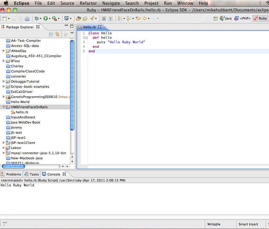 Develop Ruby Code with Eclipse (April 17, 2011) | Digerati